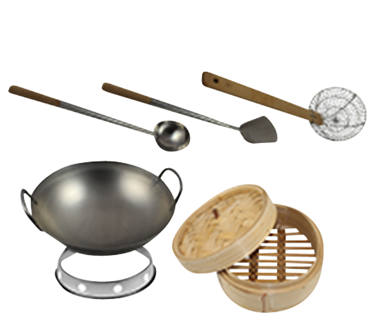 Wok Set 6-pieces XL Premium