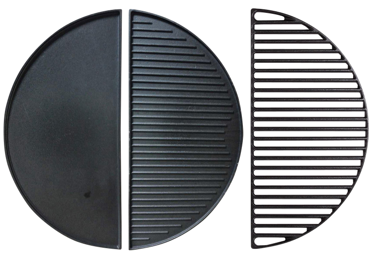 Half moon cast iron grate and plate Kamado XL Pro 20